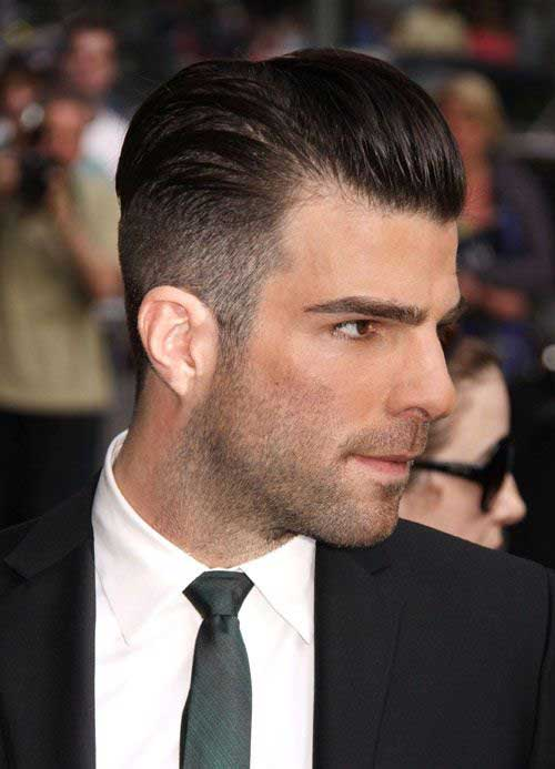 Shaved Side Pompadour Hairstyle for Men