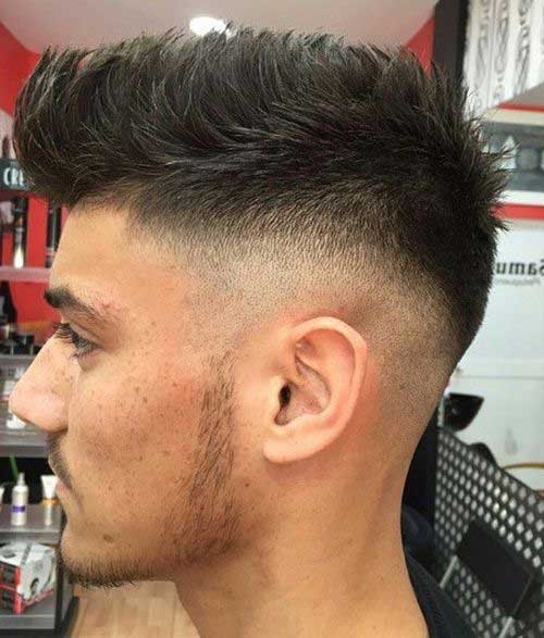 Shaved Sides and Spikes Hairstyles for Men