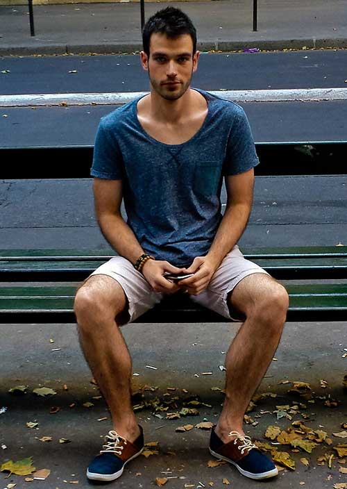 Trendy Short Dark Hairstyles for Men