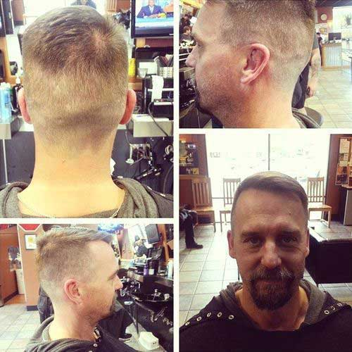 Short Hair Style for Men Back View 2015