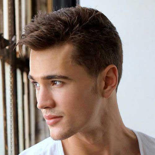 Short Trendy Simple Hairstyles for Men