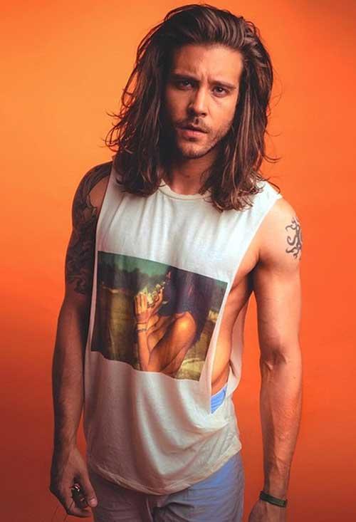 Shoulder Length Long Hairstyles for Men