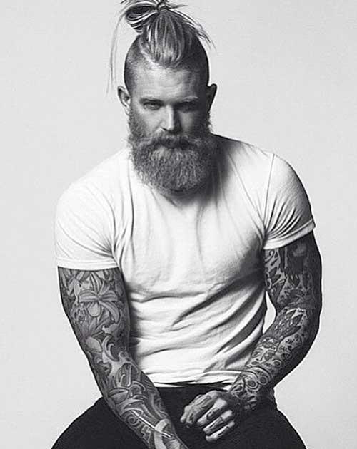 Side Shaved Long Hair Bun for Men 2015-2016