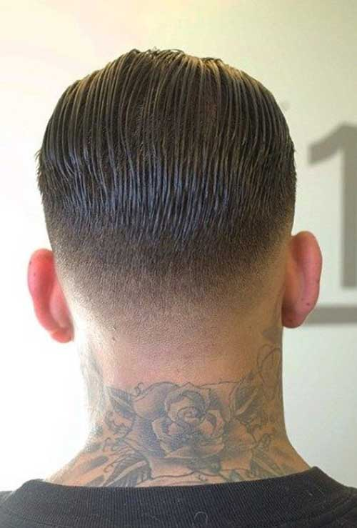 Tapered Haircut Back View Men