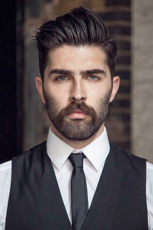 High Quality Trendy Classy Dark Hairstyle For Men