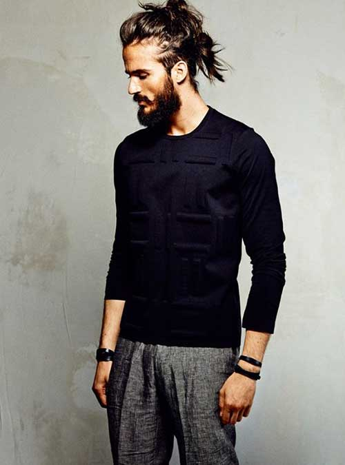 Trendy Mens Bun Styles