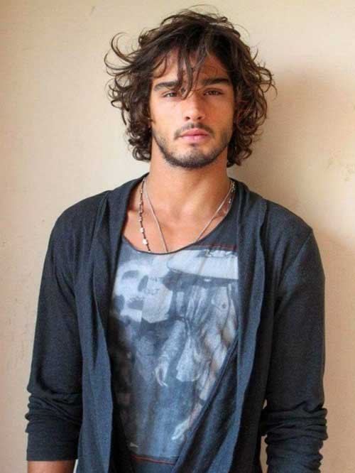 Trendy Mens Long Curly Hairstyles 2015