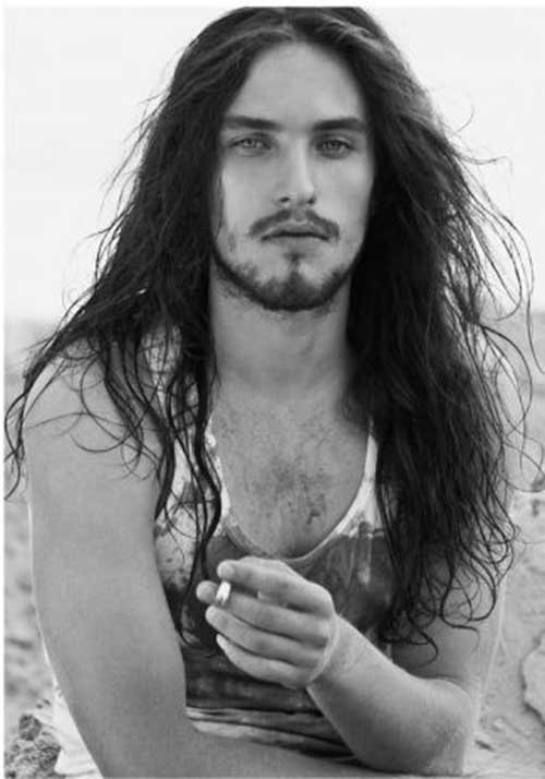 Cool Wavy Long Hairstyles for Men