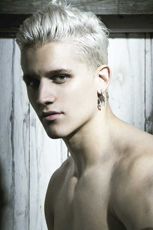 White Hair for Guys Pictures