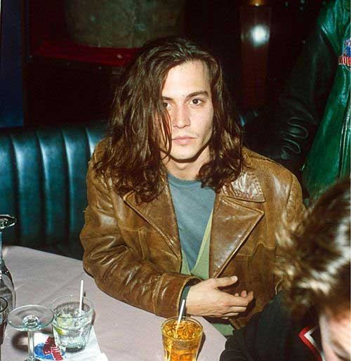 Young Johnny Depp Long Hairstyles