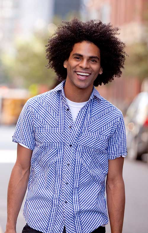 Short Curly Hairstyles for Black Men-11