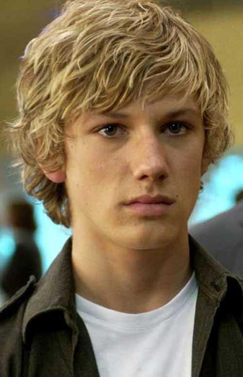 Teen boy with blonde hair