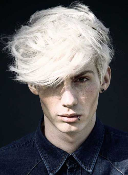 Guy With Platinum Blonde Hair