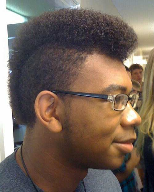 Short Curly Hairstyles for Black Men-8