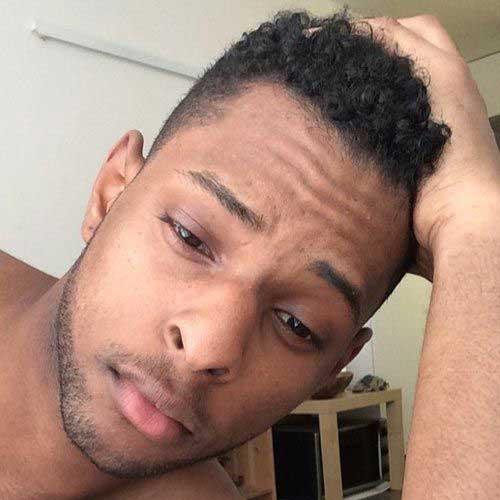 Short Curly Hair for Black Men