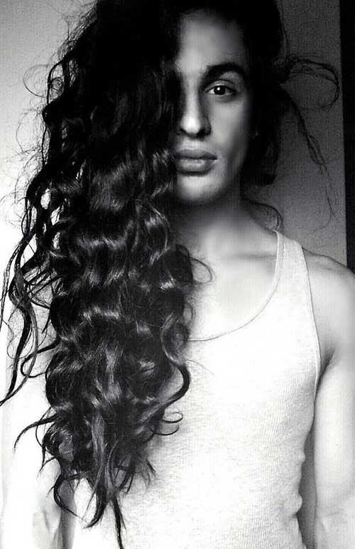 Guys with Long Curly Hair-10