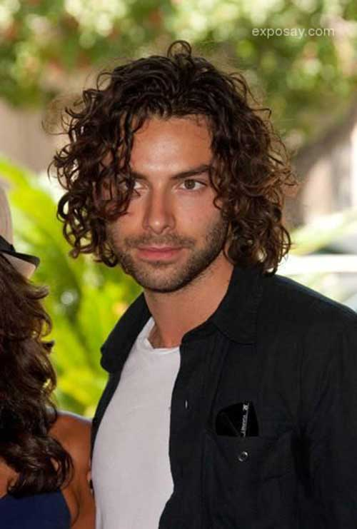 Guys with Long Curly Hair-11