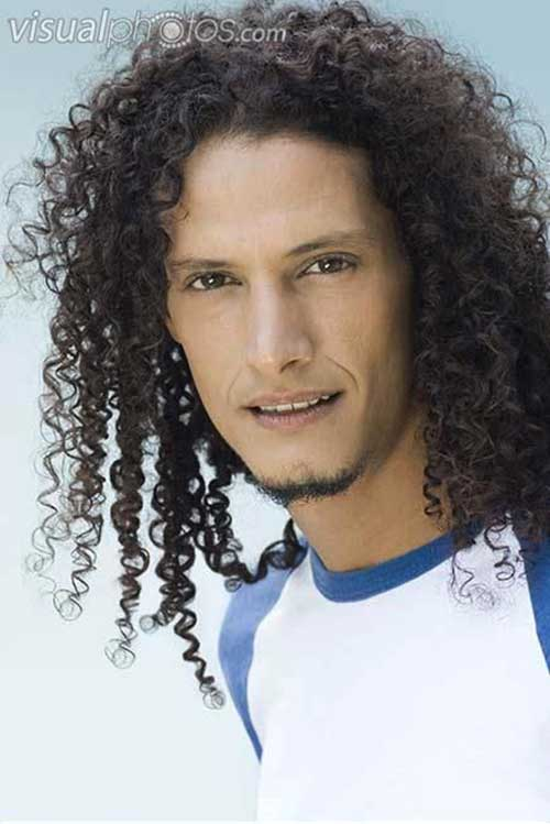 Guys with Long Curly Hair-19
