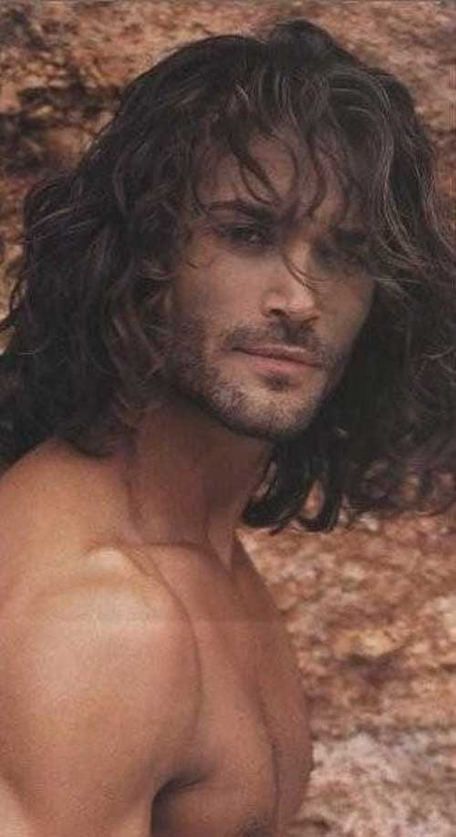 Guys with Long Curly Hair-21