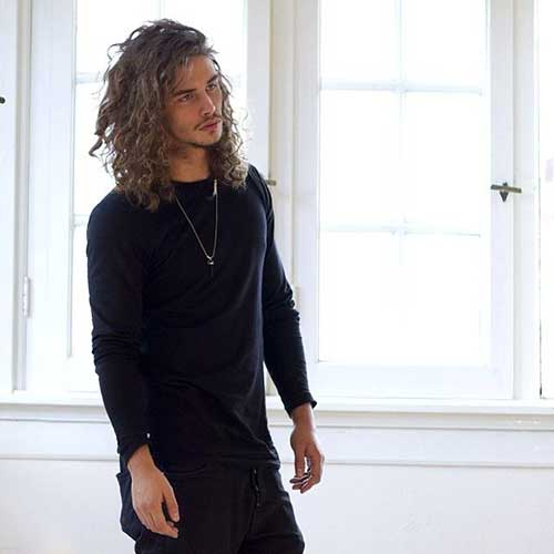 Guys with Long Curly Hair-22