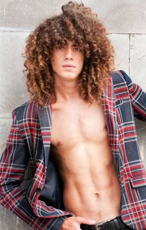 Long Curly Hair Guy