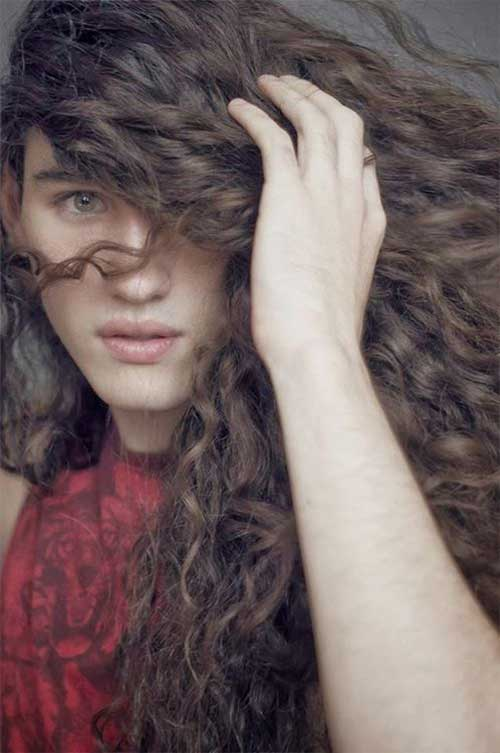 Long Curly Hairstyles for Guys