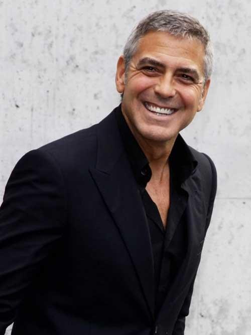 George Clooney Hairstyles-12