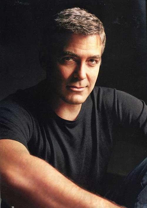 George Clooney Hairstyles-9