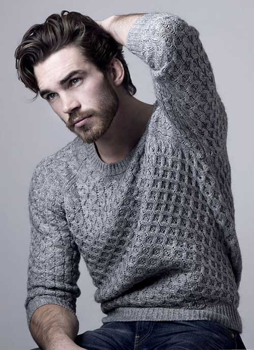 Hairstyles for Wavy Hair Men-21