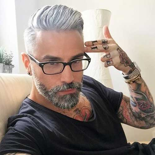 Grey Hair Color On Coolest Guys On Planet The Best Mens