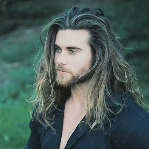 Long Hairstyles On Men-25