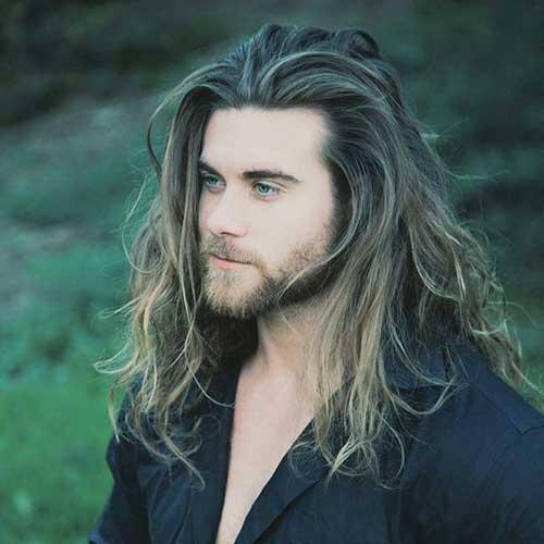 Long Hairstyles On Men-25