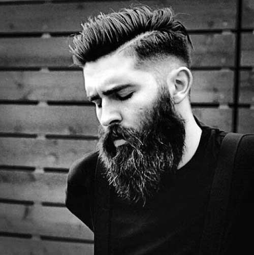 Masculine Beard And Faded Hair Style