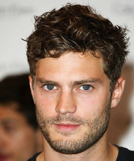 Short Wavy Hairtyle for Men, Curly Hairtyles Short Dornan