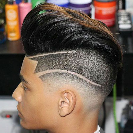 Pompadour Undercut Fade Hairtyles