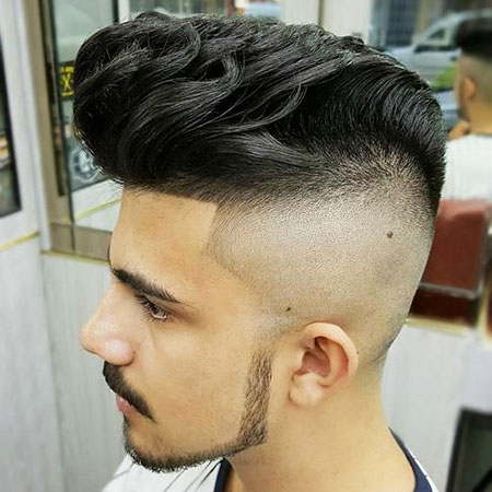 Fade High Pompadour Hairtyles