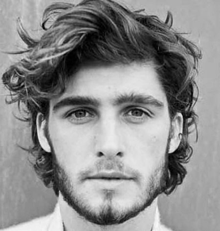 Messy Hairtyle, Men Wavy Long Style