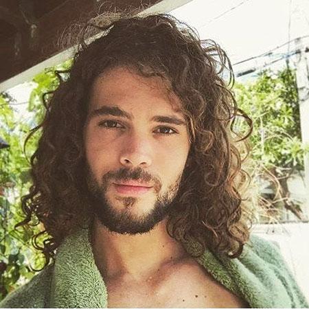 Curly Hair, Curly Long Aidan Momoa