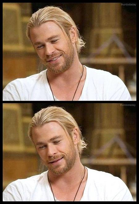 Straight Hair, Chris Hemsworth Chris Charlie