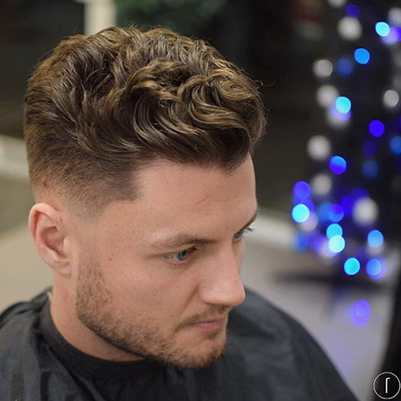 Short Hair, Wavy Fade Styles Men