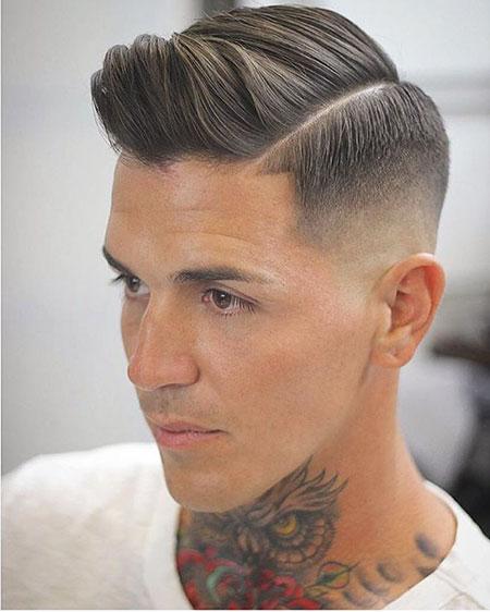 Fade Undercut Haircut Mens