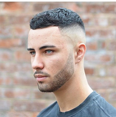 Crew Cut Men Hairtyle, Men Hairtyles Wavy Short