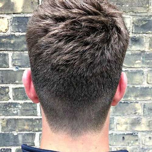 Back View of Short Haircuts for Men-11