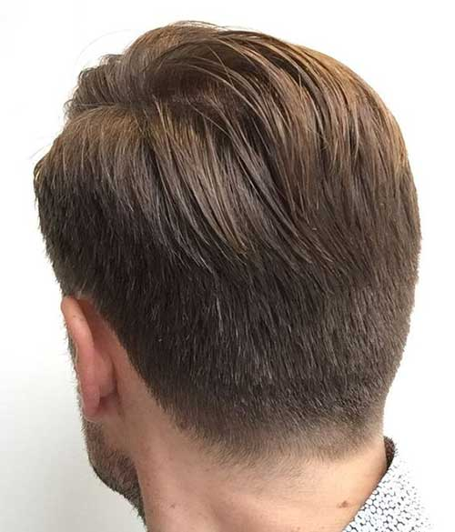 Back View of Short Haircuts for Men-12