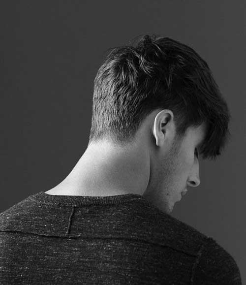 Back View of Short Haircuts for Men-14