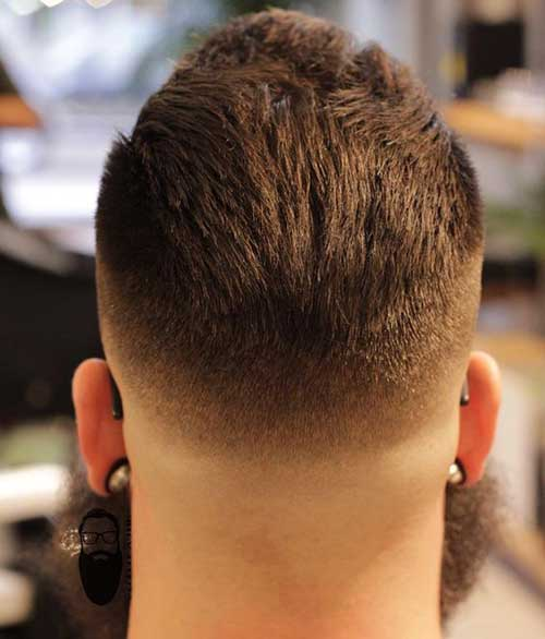 Back View of Short Haircuts for Men-6