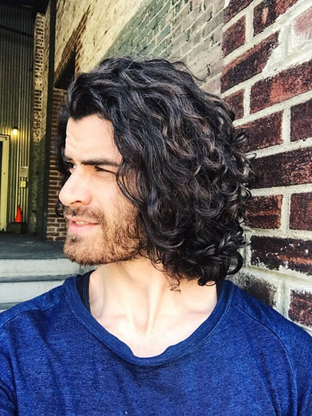 Mens Long Curly Hairtyles, Curly Long Natural Norman