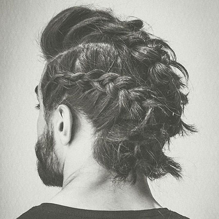 Curly Short Hair Braid