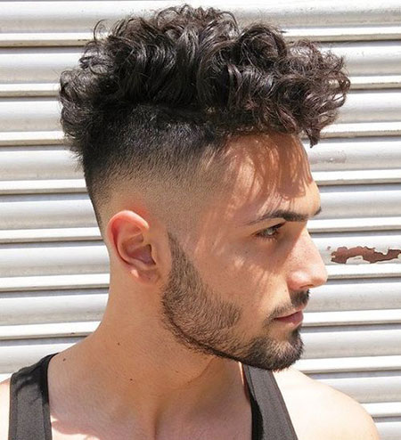 Summer Hair, Fade Curly Haircut Mens