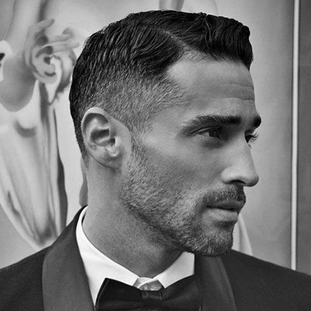 Short Hairtyle, Mens Classic Short Beard